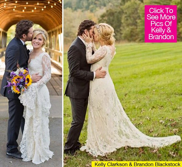 Kelly Clarkson Posts First Romantic Wedding Photos To Twitter Kelly Clarkson Wedding Celebrity Wedding Gowns Celebrity Weddings