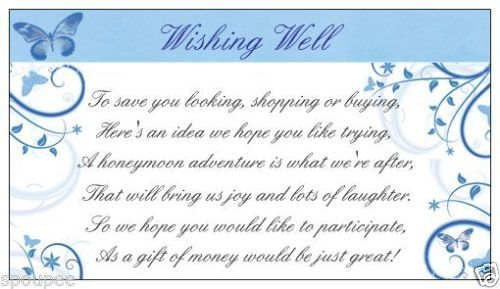 Wedding Invitation Wishing Well Wording: Wishing Well Card Poem
