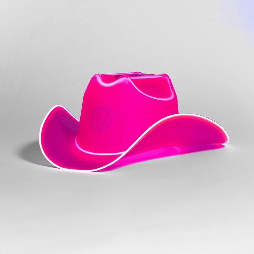 b2f826a413c68 Neon Cowboys  LightUptheParty Illuminated western wear for party goers  world wide. Neon Cowboy Hats