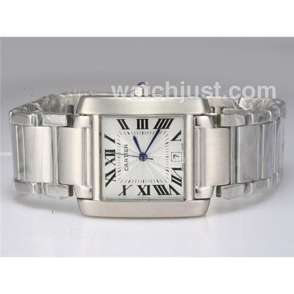 Cartier Tank with White Dial