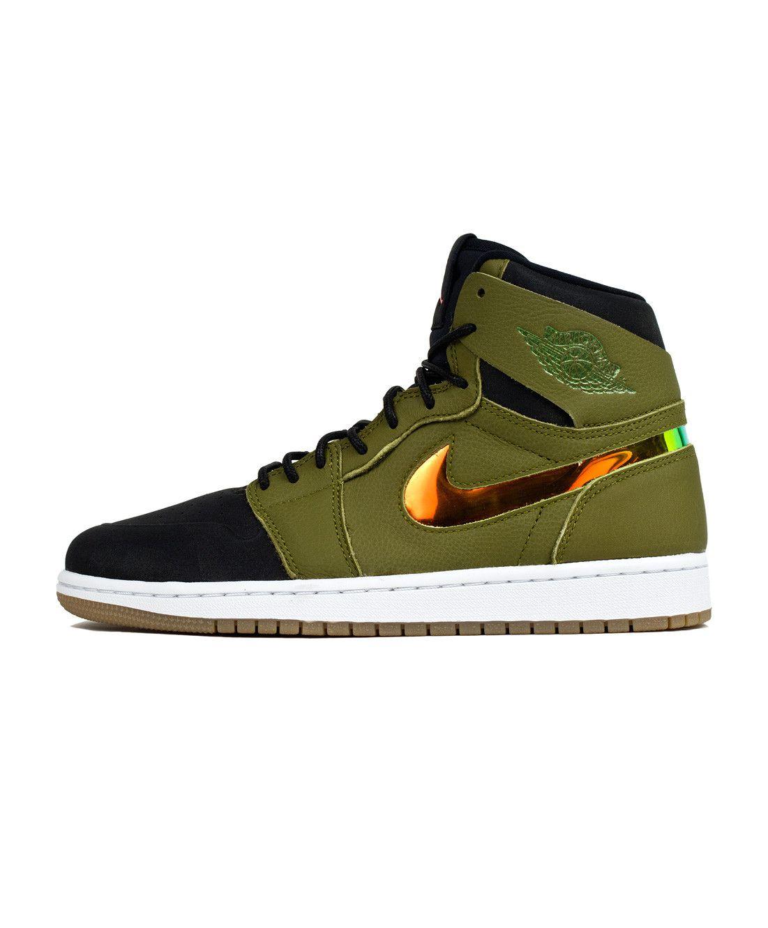 e7ed5fec27c0 Air Jordan 1 Retro High Nouveau - Militia Green Hyper Orange