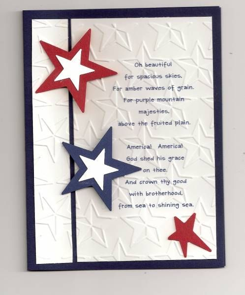 Happy 4th Of July Military Cards Cards Handmade Card Craft