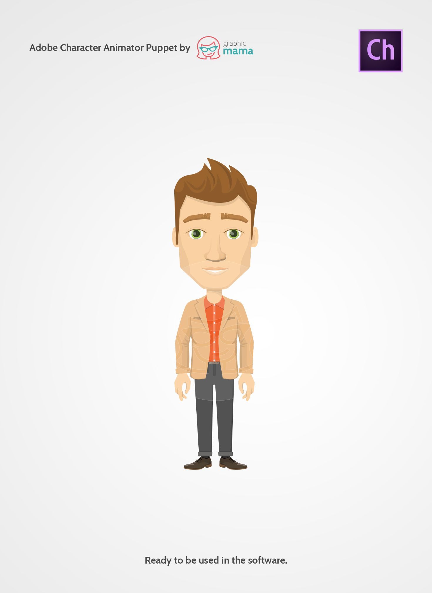 A business guy made by graphicmama as an adobe character