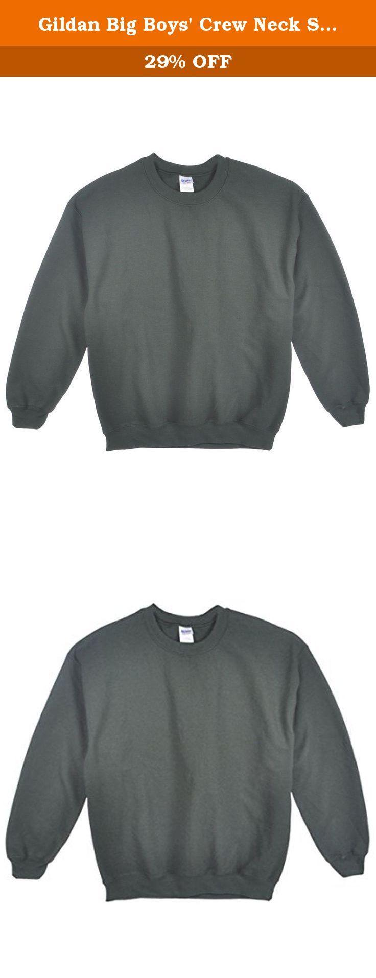 Gildan Big Boys Crew Neck Sweatshirt Green Xs 4 5 For School And Play This Gildan Sweatshirt Delivers Gildan Sweatshirts Crew Neck Sweatshirt Sweatshirts [ 1915 x 736 Pixel ]