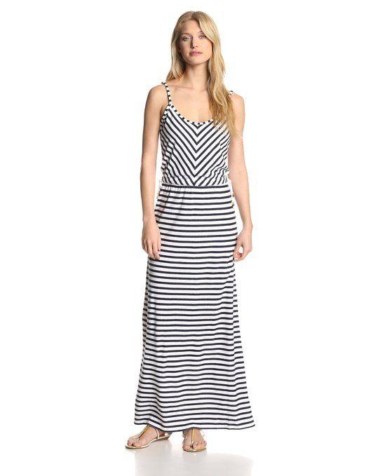 f9756b6971 Juicy Couture Women s Micro Terry-Stripe Maxi Dress