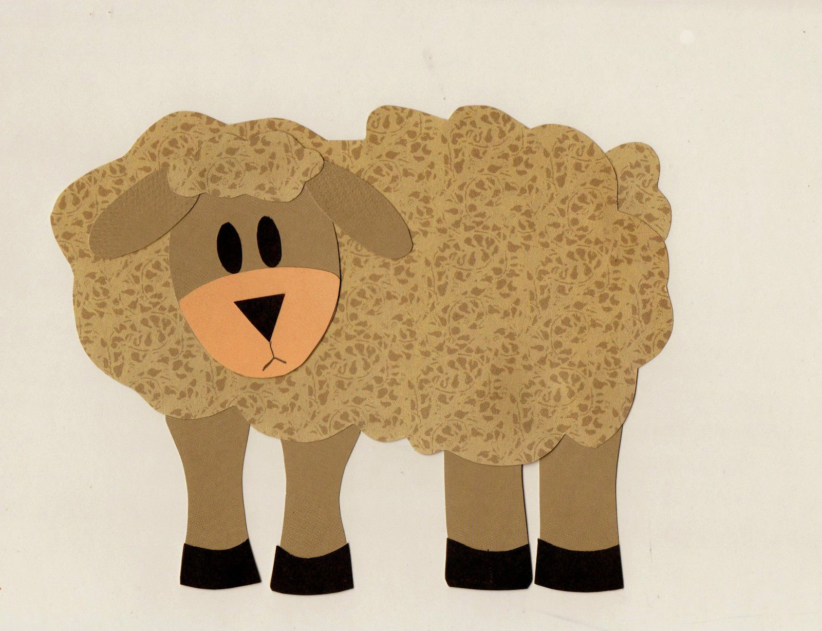 Quilt applique template pattern for farm animal sheep wall