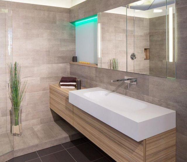 101 photos de salle de bains moderne qui vous inspireront Baños - Salle De Bain Moderne Grise