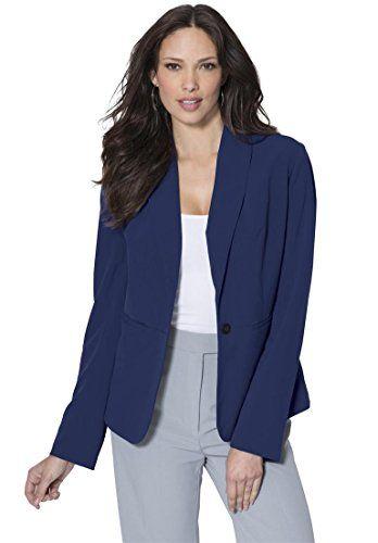 021142c7332 Roamans Womens Plus Size Ultimate Fit Blazer Evening Blue20 W     For more  information