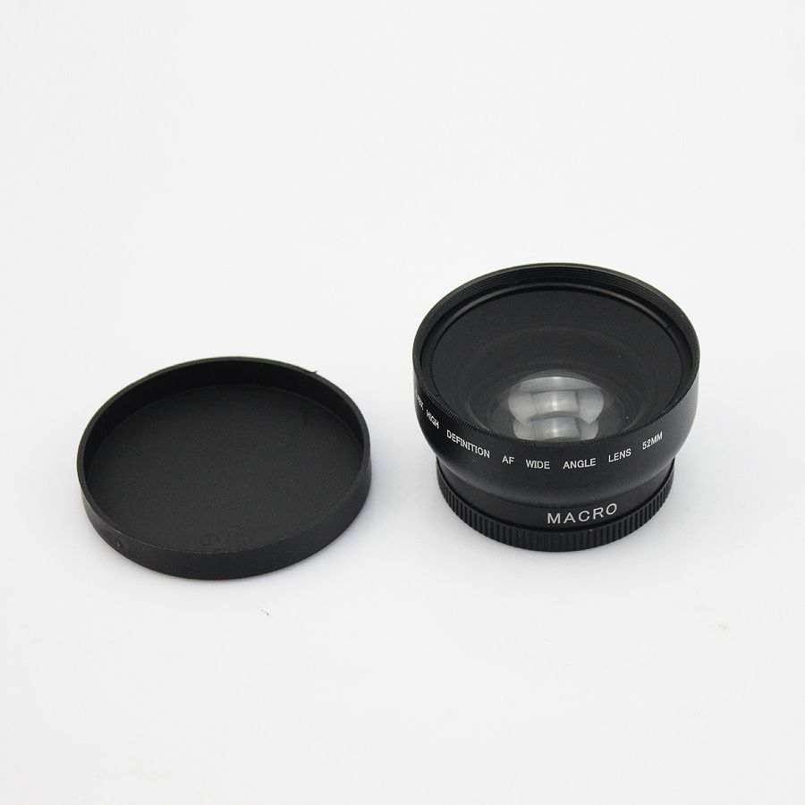 52mm 0 43x Macro Hd High Definition Af Wide Angle Lens For Nikon Cap Canon D5000 D5100