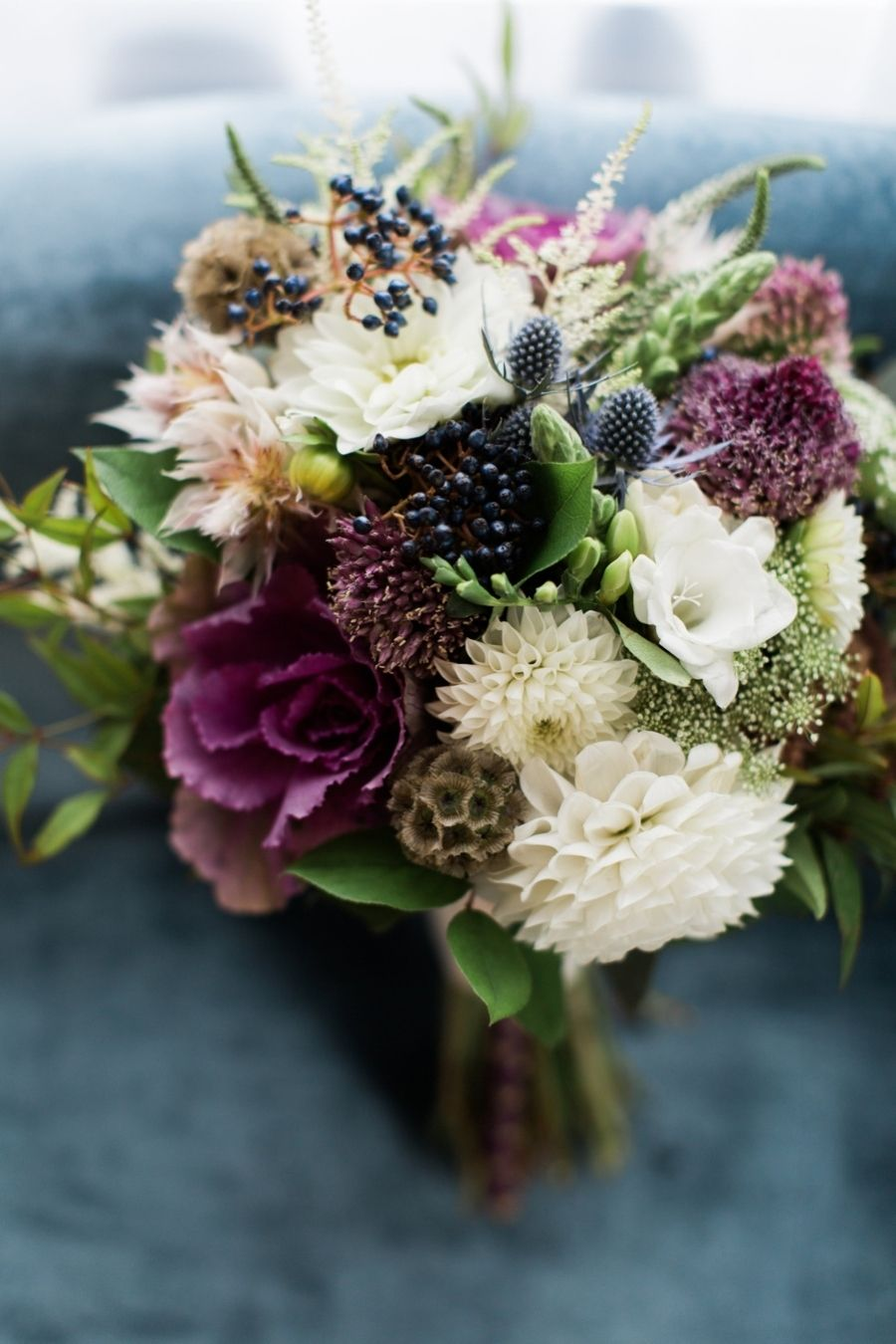 Modern fall colored wedding bouquet: Photography: Dabble Me This - www.dabblemethis.com Read More on SMP: http://www.stylemepretty.com/2016/08/23/modern-salvage-one-wedding/
