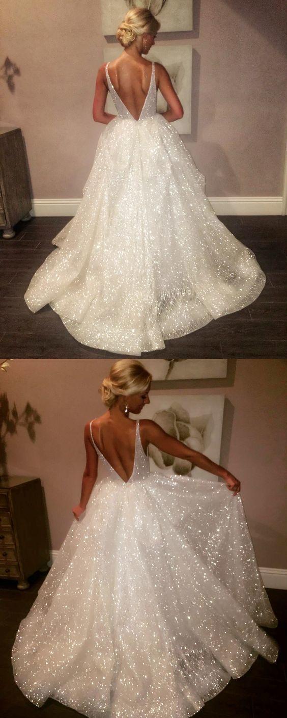 Luxuriöse A-Linie Weiß Pailletten Lange Abendkleid 5 Abendkleid