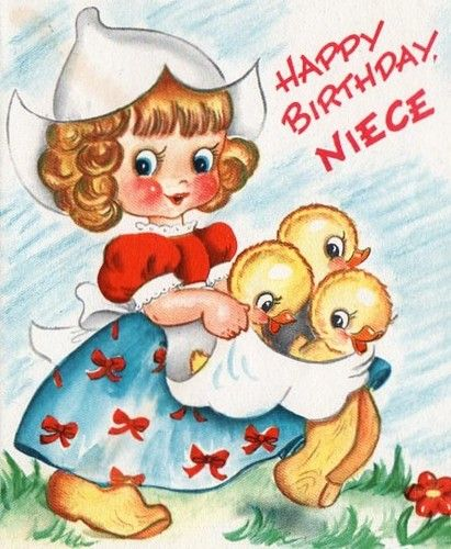 Birthday Card ~ Little Dutch Girl