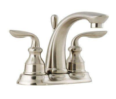 Bathroom Faucet Double Handle Spout Counter Top Sink Faucets