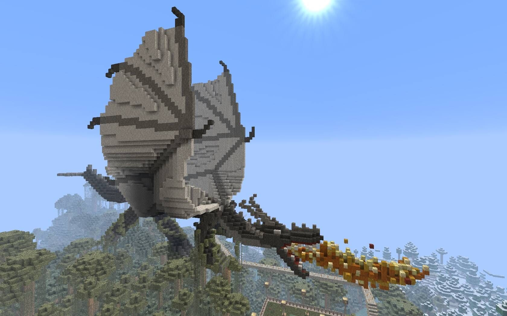 Minecraft Minecraft Dragon Minecraft Fire Breathing Dragon Minecraft Pictures Minecraft Blueprints Minecraft City Buildings
