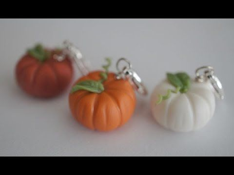 Miniature Pumpkin Tutorial, Polymer Clay Pumpkin Tutorial - YouTube