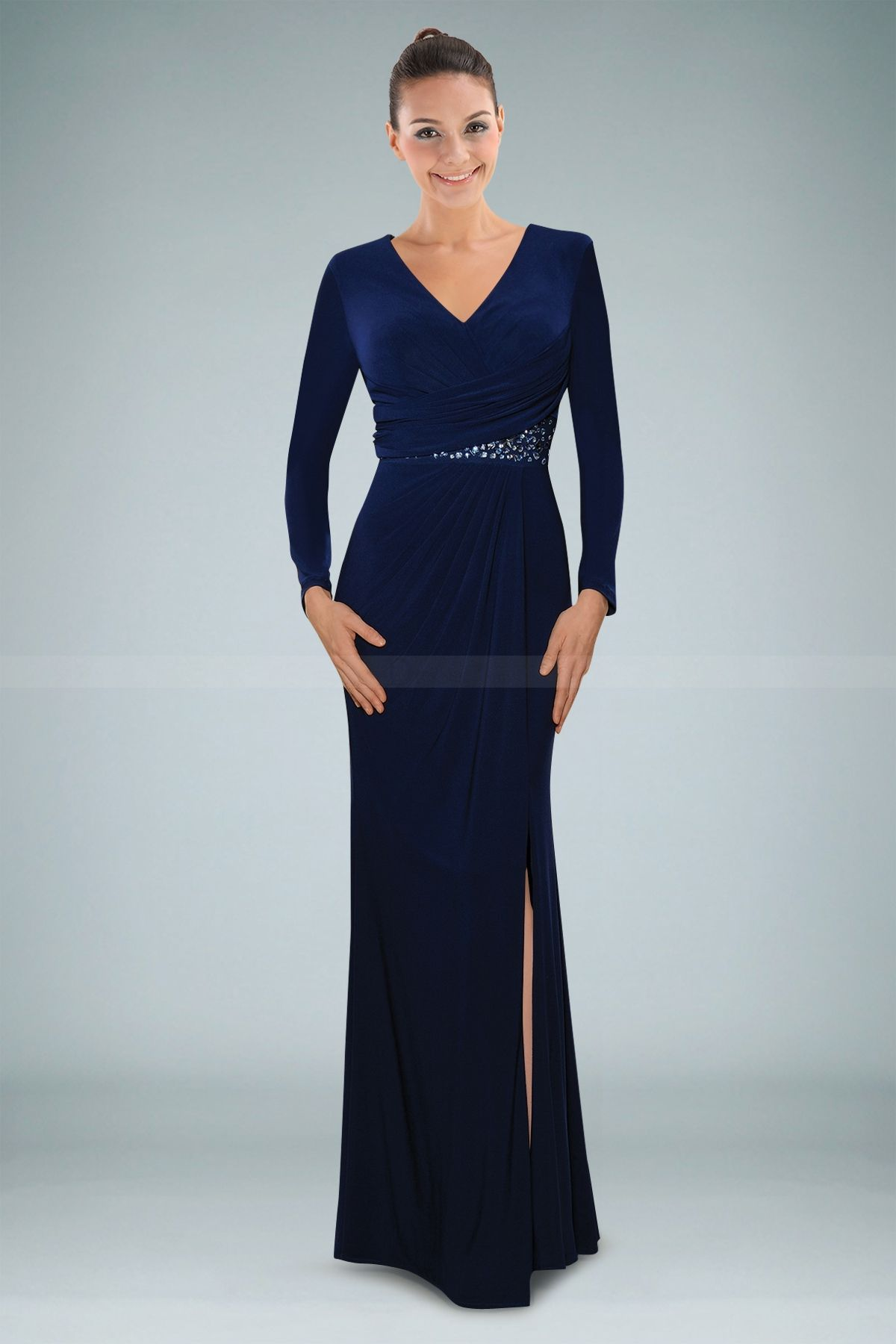 Classic holiday christmas party evening gown in blue | 40th Birthday ...