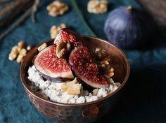 Kostenloses Rezept: Zimt-Porridge mit Honig-Feigen zubereiten / free recipe: cinnamon oatmeal with honey via DaWanda.com