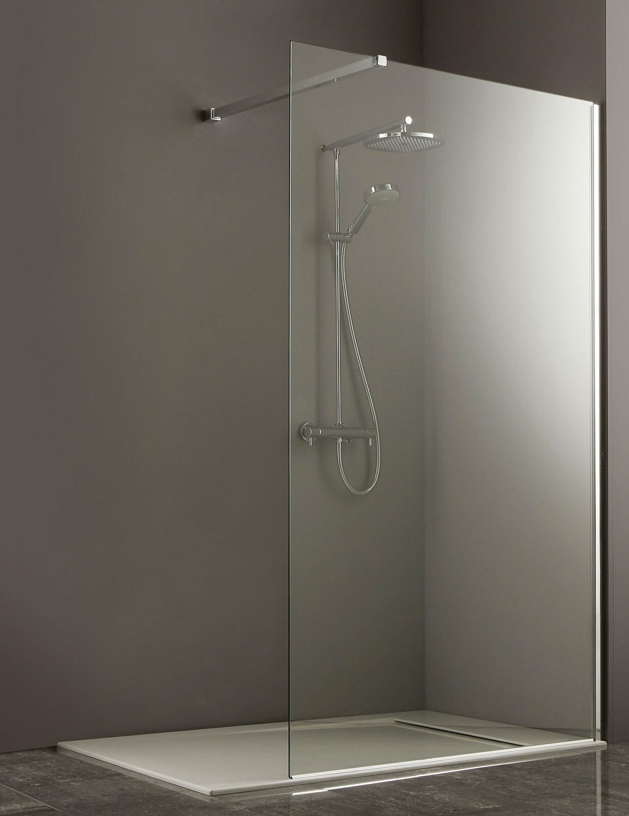 Frameless Shower Screen Panel 900mm Ebay Shower Screen Frameless Shower Glass Shower