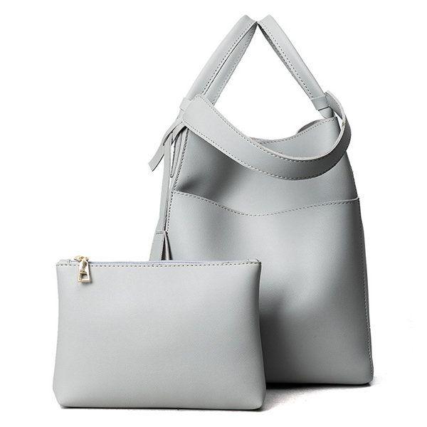 73c68c22cb Bagail Women PU Leather Handbag High-End Tote Bag Bucket Bag