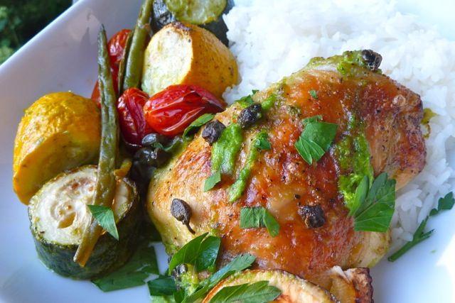 Lemon Chicken w/Veggies & Capers