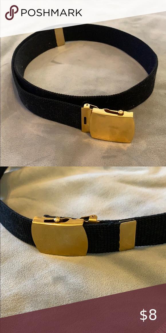 Brass and Black Web Belt