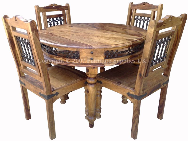 dining chairs for round table - Wood Round Dining Table For 4