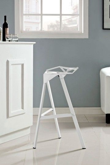 Launch Bar Stool Stacking Chair   White By Modway On @HauteLook