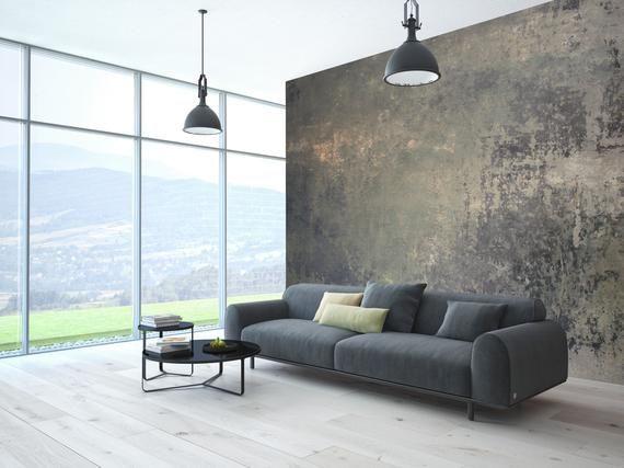 Removable Concrete Look Wallpaper Self Adhesive Modern Etsy Concrete Wallpaper Beige Wallpaper Modern Wallpaper