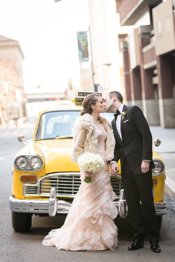 The Bowery Hotel Wedding | NYC vintage taxi | New York Wedding | ©Charlie Juliet | charlie-juliet.com