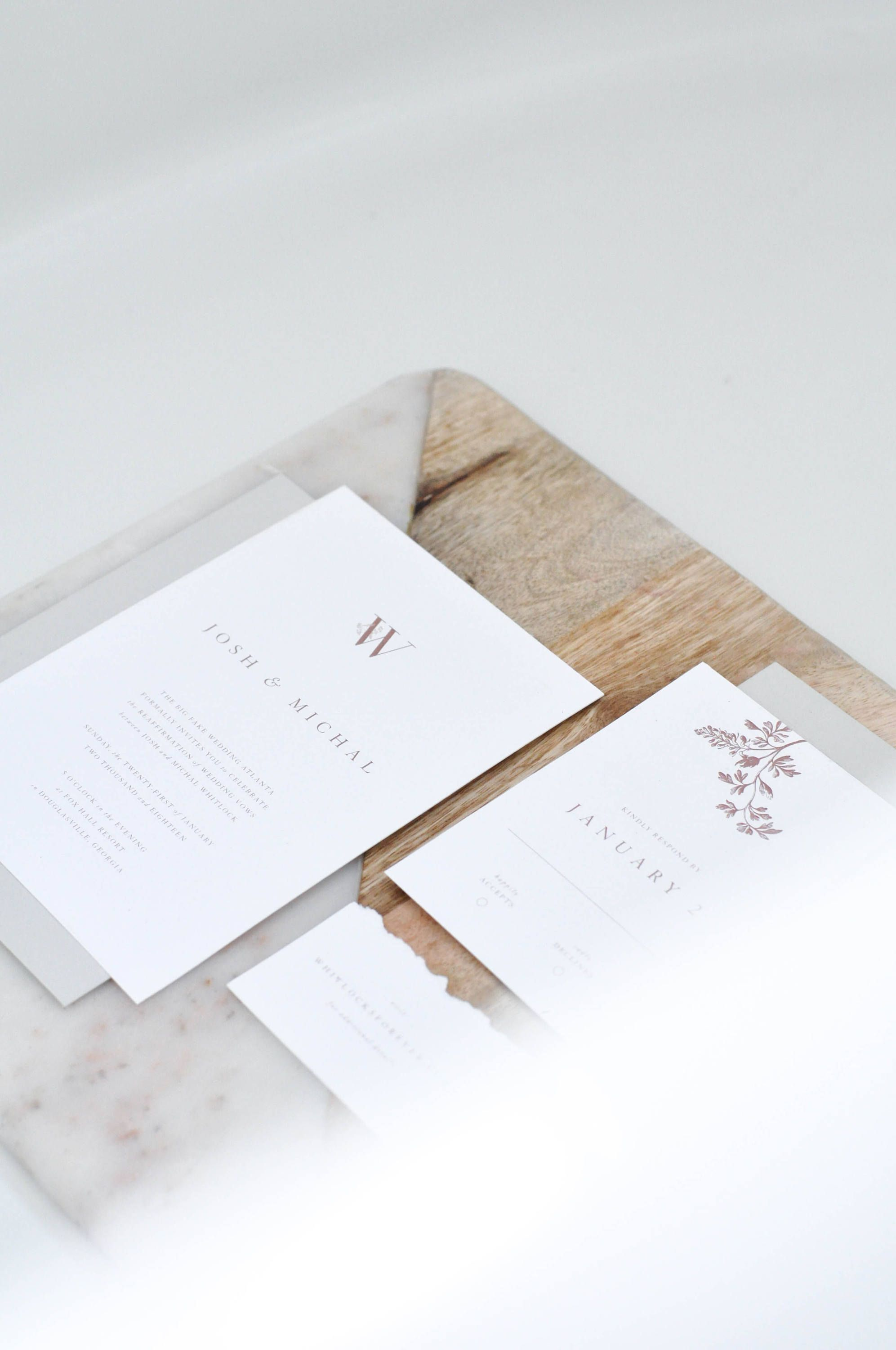 Floral Detail Card Mini Accommodation Card Wedding Details