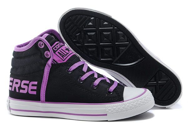 dc4f9ae647269c Black Converse Vampire Diaries Purple Serif Padded Collar Chuck Taylor All  Star High Tops Winter Cotton Boots  converse  shoes