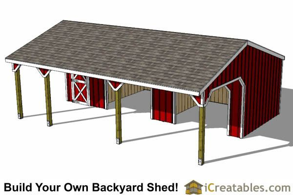Run In Shed With Tack Room And Breezeway Top View Run In Shed Shed Plans Lean To Shed