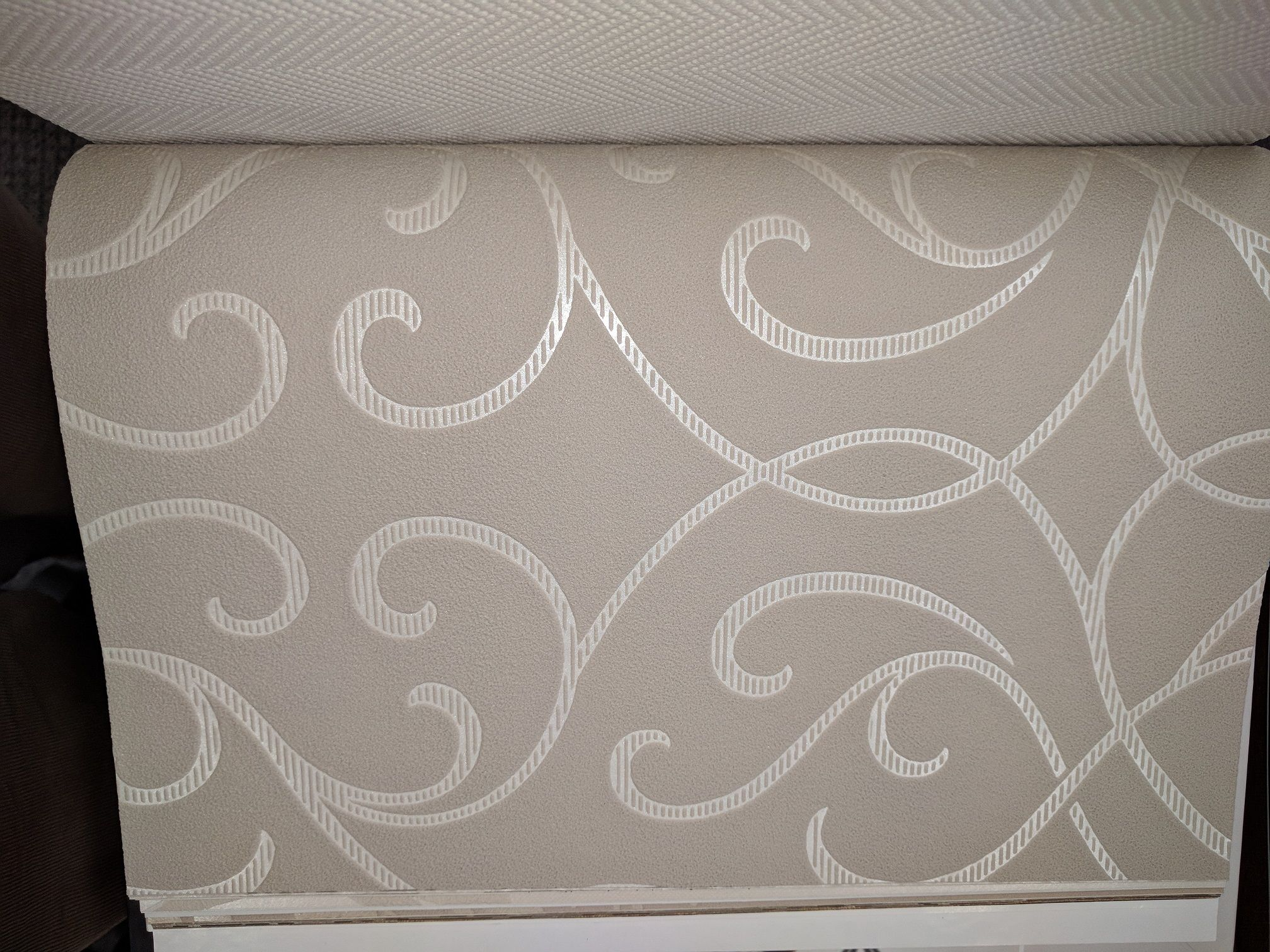 Silver wallpaper hallway  Ethan Allen wallpaper for front hall  decor  Pinterest  Hall
