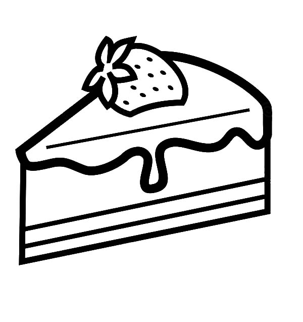 Strawberry Cake Slice Coloring Pages Best Place To Color Coloring Pages Super Coloring Pages Cupcake Coloring Pages