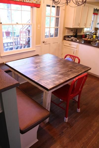 Square Farmhouse Dining Table Kitchen Tables