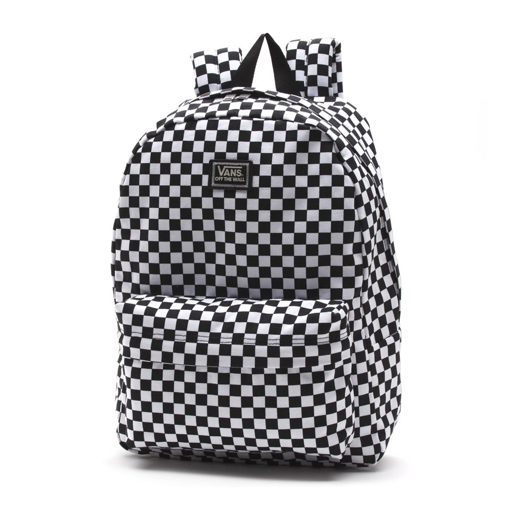 Chulísima Mochila Vans Old Skool II Black White Checker