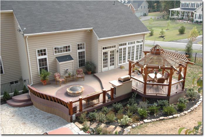 Deck Ideas With Fire Pit. Composite Deck With Tubfire Pit And Pergola  Google Search Deck