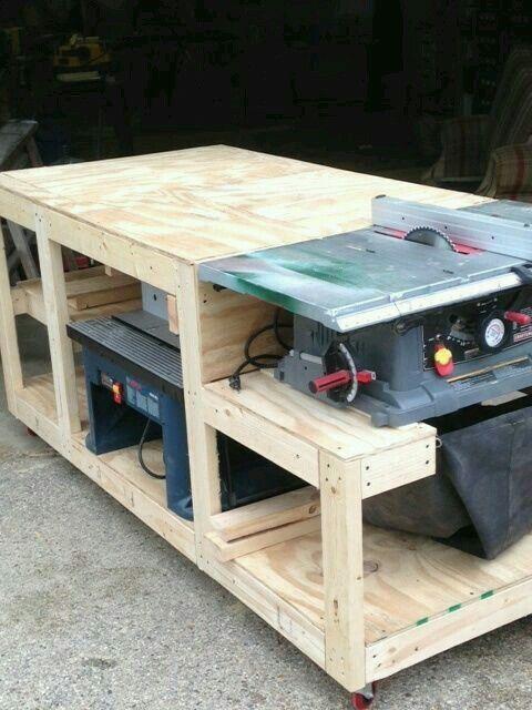 multi tool workstation saw table workbench pinterest werkstatt holzarbeiten und m bel bauen. Black Bedroom Furniture Sets. Home Design Ideas