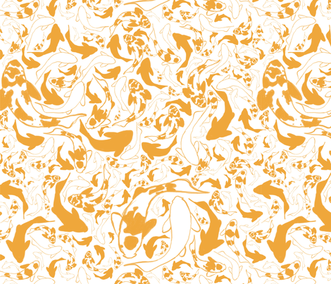 Koi Fish fabric by akarpinski on Spoonflower - custom fabric
