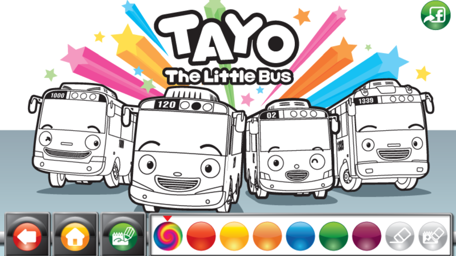 Tayo the little bus coloring pages coloring page
