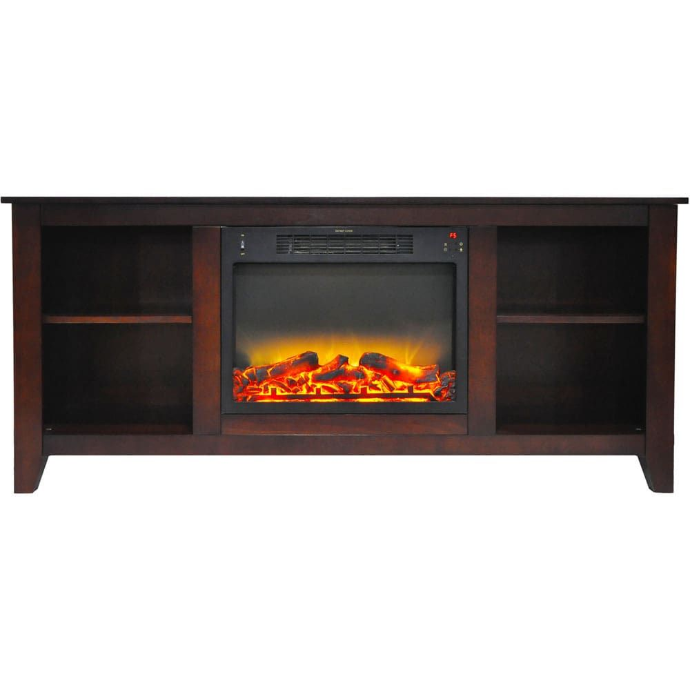 Best Cambridge Savona 59 In Electric Fireplace In Mahogany 400 x 300