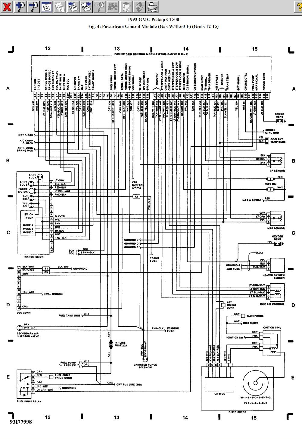 Wiring Diagram For 1993 Gmc Pickup