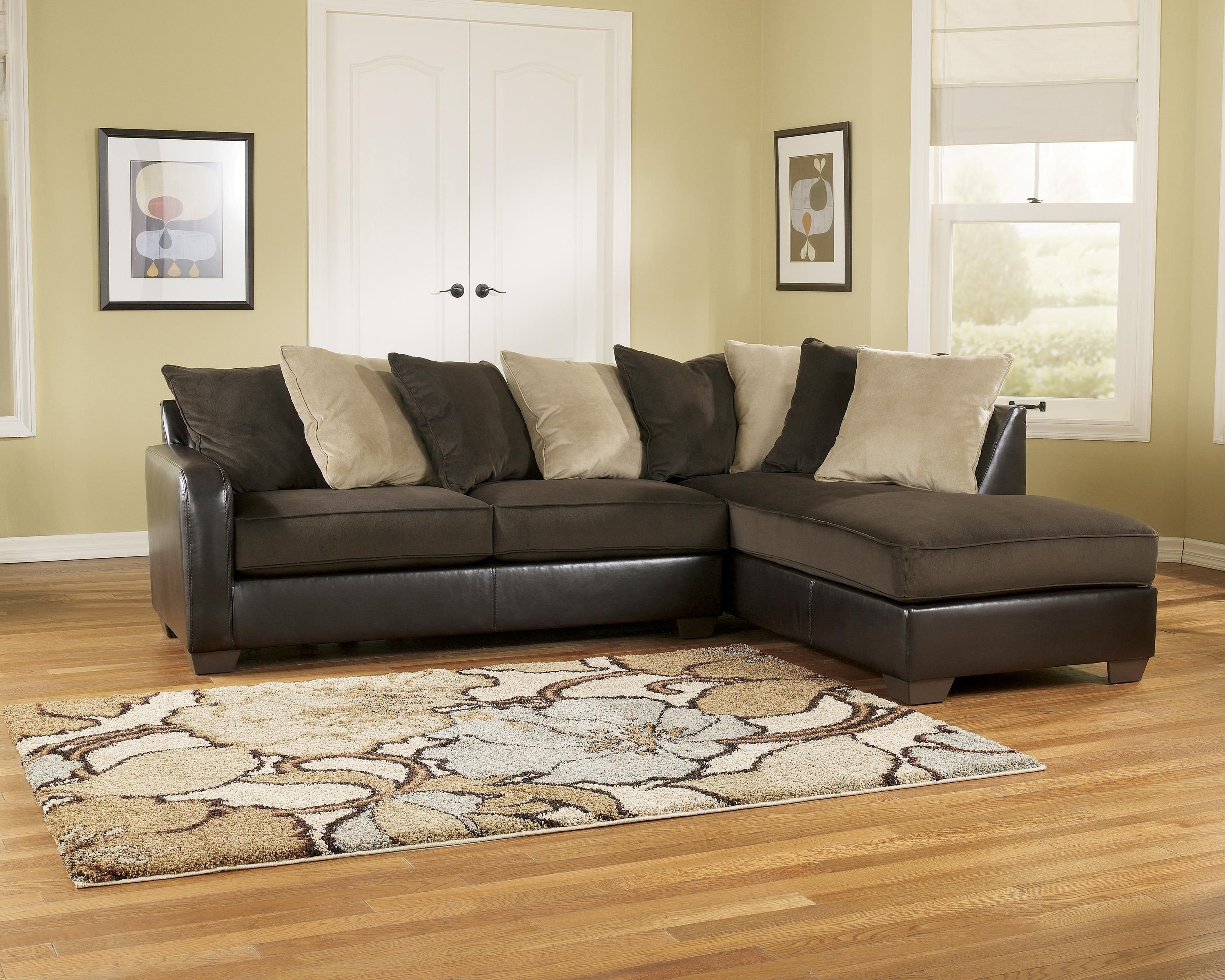 Gemini Chocolate Raf Chaise Sectional By Ashley Furniture Ashley Furniture Sectional Sofa With Chaise Furniture