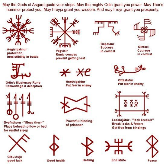 Galdrastafir These Are Very Ancient Pagan Symbols Used By The