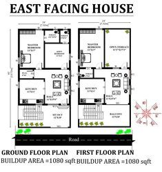 24 X45 Wonderful East facing 3bhk house plan as per Vastu Shastra Download Autocad DWG and PDF file