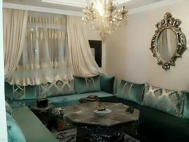 Pin by maissa had9a on salon maghrebin pinterest for Arabic living room decoration