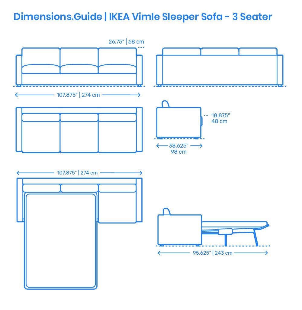 Ikea Vimle Sleeper Sofa 3 Seater Ikea Vimle Sleeper Sofa Ikea Sofa Bed
