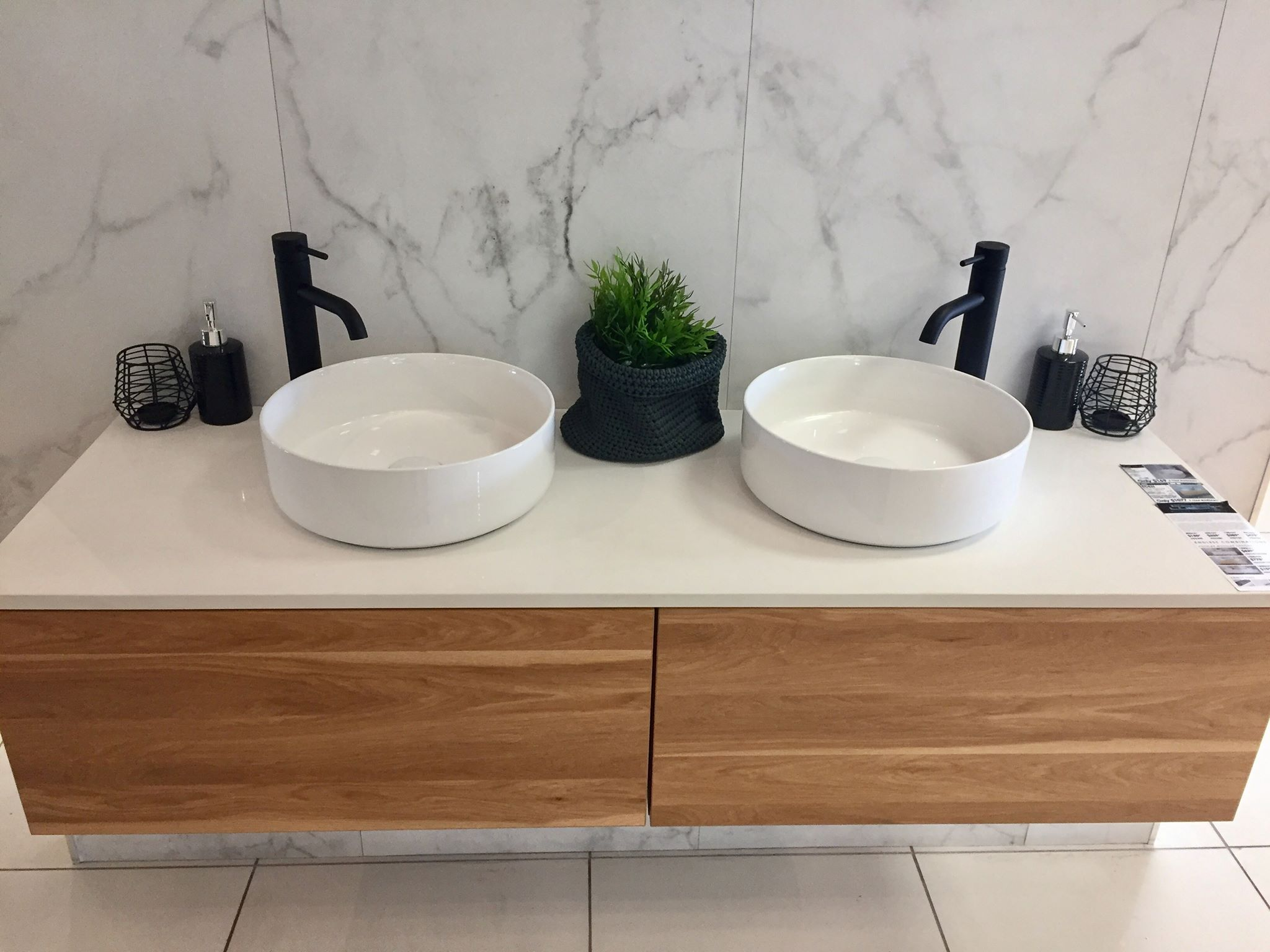 Looking For A Timber Vanity? Look No Further Than Our Eden Modular Vanity  Cabinets. Single Or Double Wall Mount Drawers. Here You See It With Our  Snow White ...