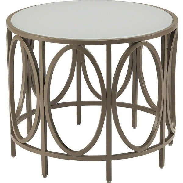 Mcguire Bowmont Outdoor Bracelet Side Table ($995) ❤ liked on ...