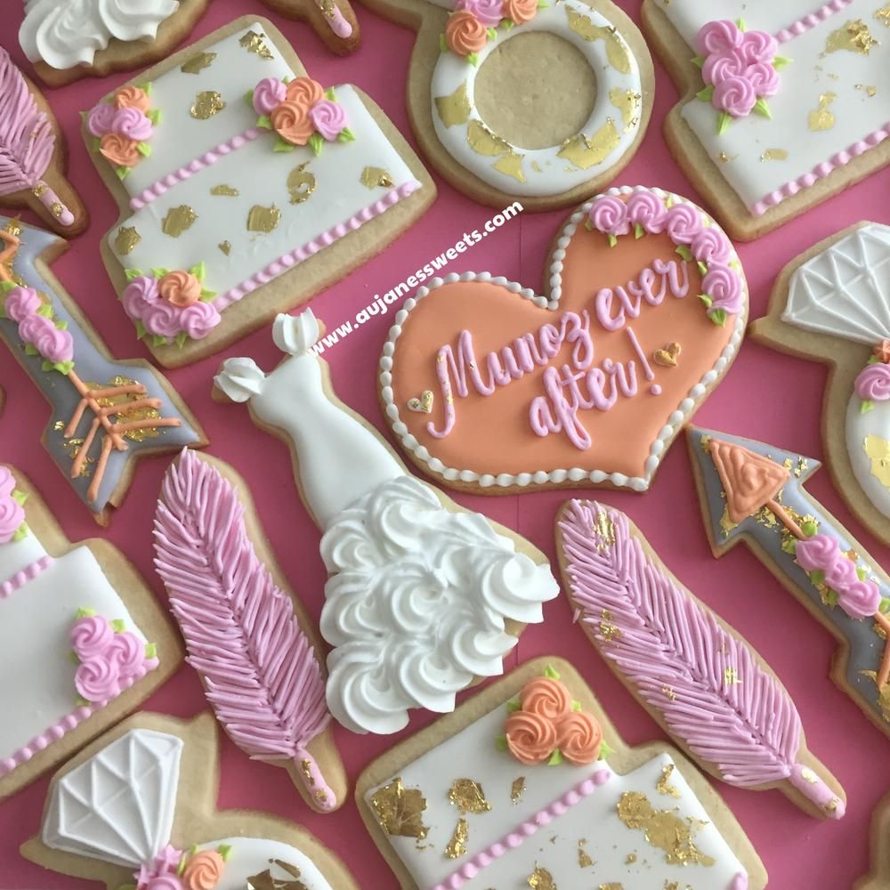 Boho Themed Bridal Cookies | Shower, Wedding and Anniversary Cookies ...